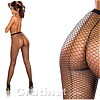 Fishnet Tights With Back Seam Black