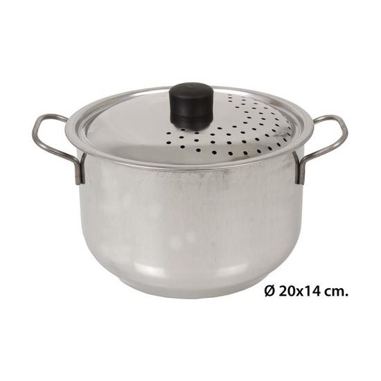 CACEROLA CON TAPA, STEEL PAN, 20CM.
