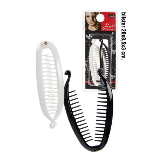 ACCESORIOS PELO BLACK/WHITE, NATURAL CARE, 2UDS.