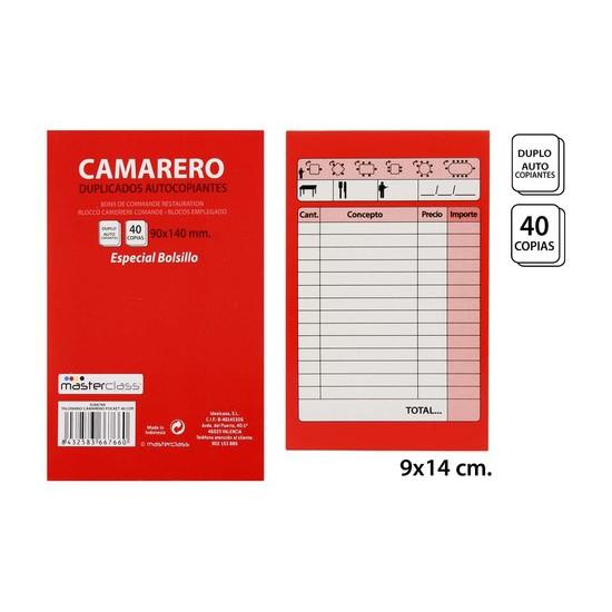 TALONARIO CAMARERO 40 COPIAS, MASTERCLASS, -POCKET-, 1UDS.