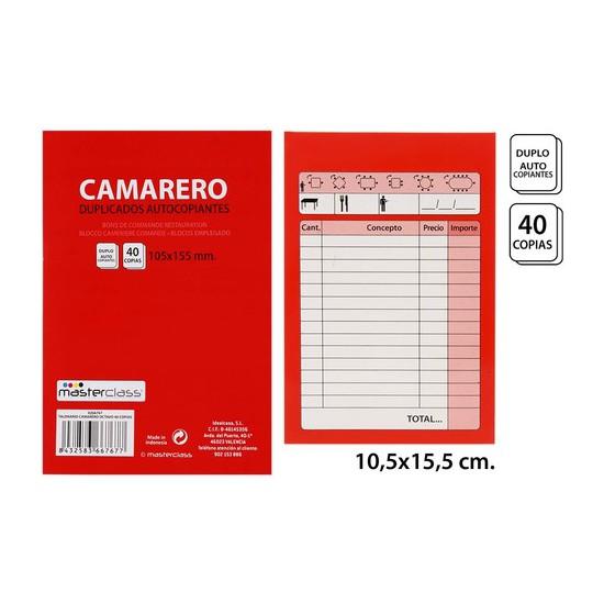 TALONARIO CAMARETO 40 COPIAS, MASTERCLASS, -OCTAVO-, 1UDS.