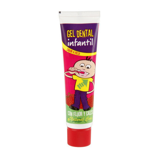 PASTA DE DIENTES INFANTIL FRESA, NATURAL CARE, 50ML.