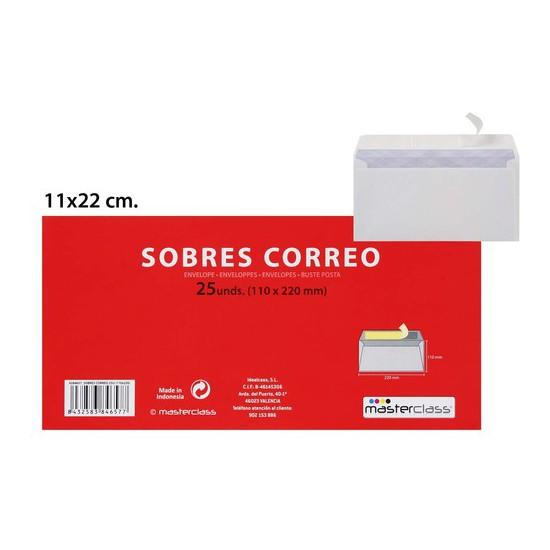 SOBRES CORREO (110X220), MASTERCLASS, 25UDS.