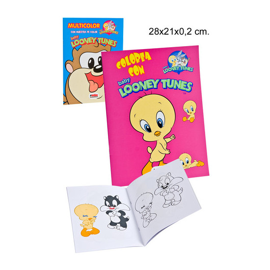 LIBRO COLOREAR SURTIDO, WARNER BROS, -BABY LOONEY-, 16 PAGINAS.