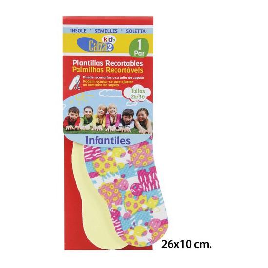 PLANTILLAS RECORTALBES INFANTILES, CALZA2, 1PAR