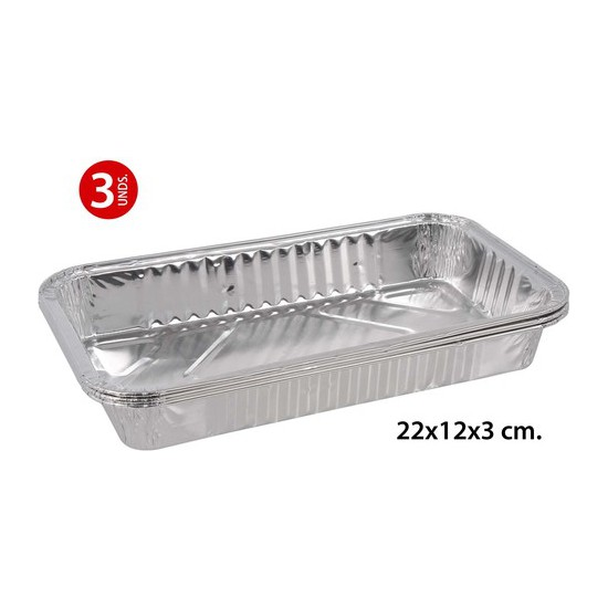 BANDEJA RECTANGULAR 226X166X36MM., WAT, 3UDS.