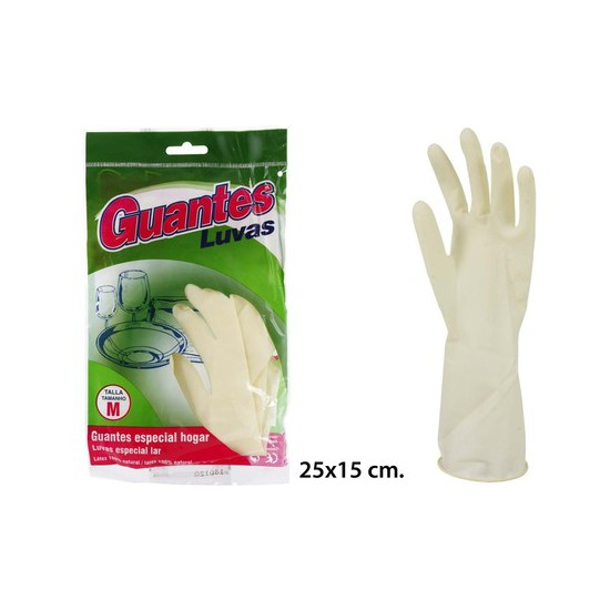 GUANTES MENAJE SATINADOS, NATURAL CARE, TALLA M