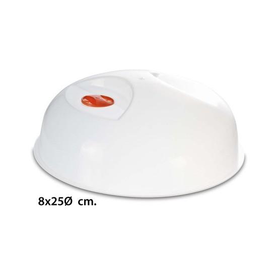 TAPA MICROONDAS CON VALVULA, USE PLASTICOS, 25CM.