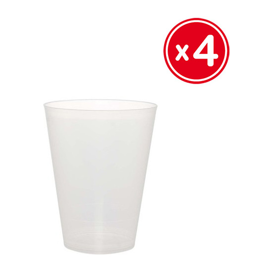 vaso cocktail 500ml polipropileno wat 4uds