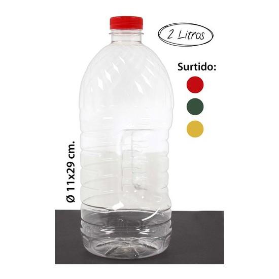 BOTELLA PET -1340 SURTIDO COLORES, WAT, 2L.