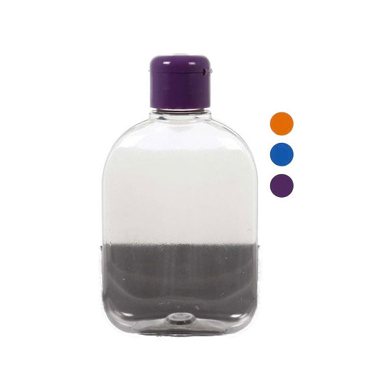 BOTELLA PETACA PET COLORES SURTIDOS, WAT, 250ML.