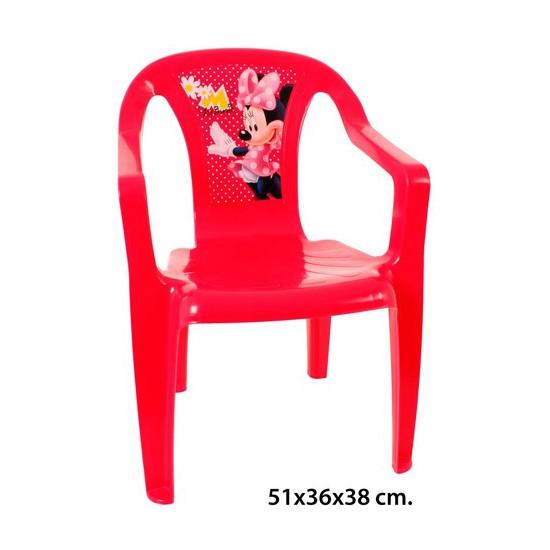 Silla de pl stico infantil disney minnie 51x36x38cm for Silla infantil plastico