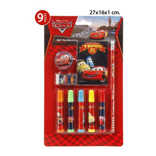SET PAPELERIA, DISNEY, -CARS-, 9UDS.