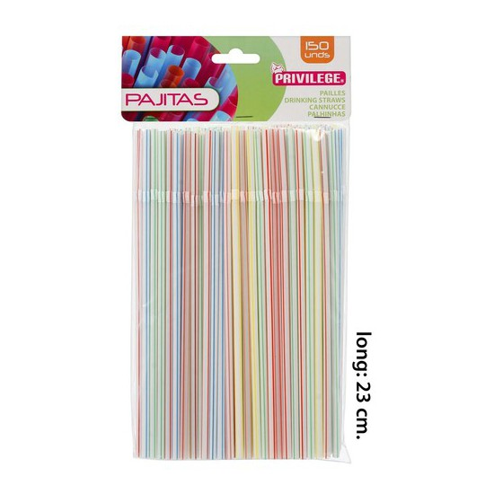 PAJITA FLEXIBLE RALLAS NEON, PRIVILEGE, 150UDS.