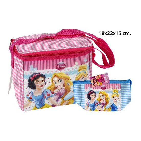 BOLSA NEVERA COLORES SURTIDOS, DISNEY, -PRINCESS-, 18X22X15CM.