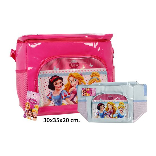BOLSA NEVERA COLORES SURTIDOS, DISNEY, -PRINCESS-, 30X35X20CM.