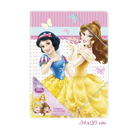 CARPETA FOLIO SOLAPA, DISNEY, -PRINCESS-, 34X25CM.