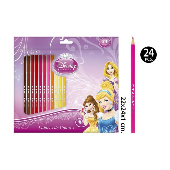 LAPICES COLORES, DISNEY, -PRINCESS-, 24UDS.