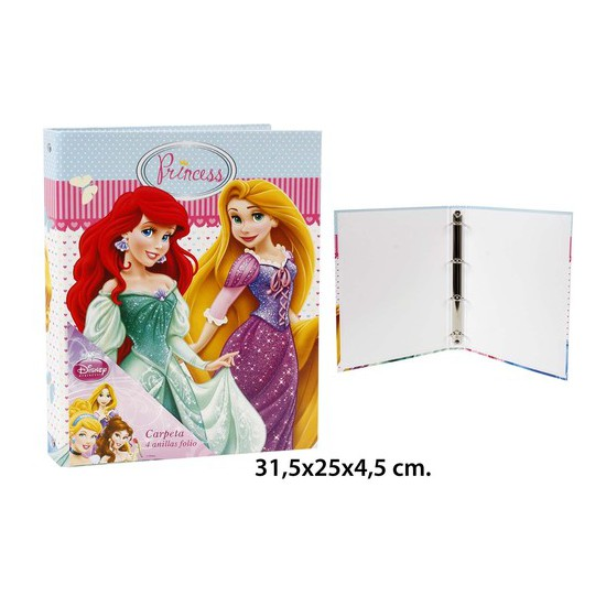CARPETA A4- FOLIO, DISNEY, -PRINCESS-, 31,5X25X4,5CM.
