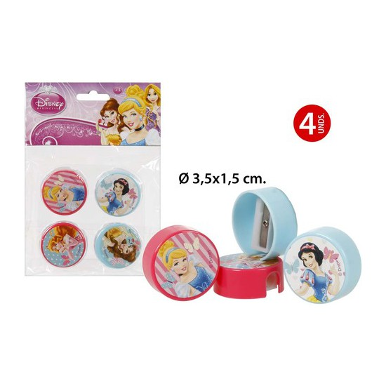 SACAPUNTAS, DISNEY, -PRINCESS-, 4UDS.