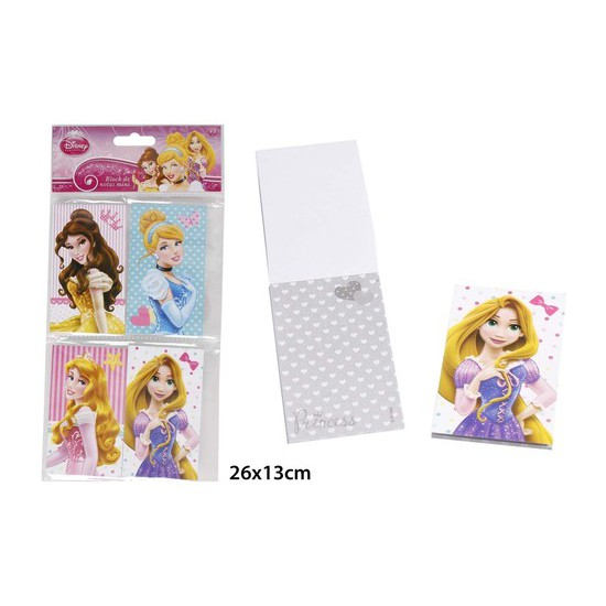 BLOCK NOTAS MINI, DISNEY, -PRINCESS-, 4UDS.
