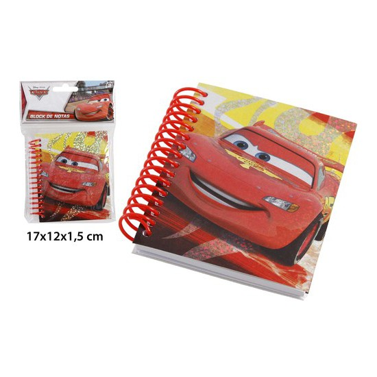 BLOCK NOTAS, DISNEY, -CARS-, 17X12CM.