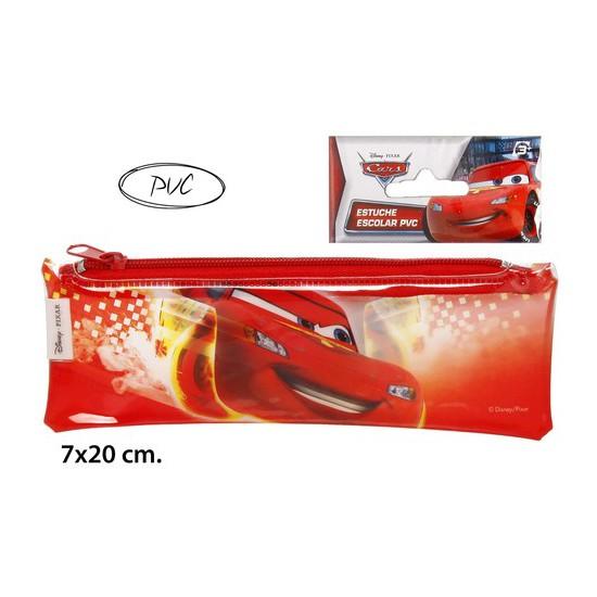 ESTUCHE ESCOLAR PVC, DISNEY, -CARS-, 7X20CM.