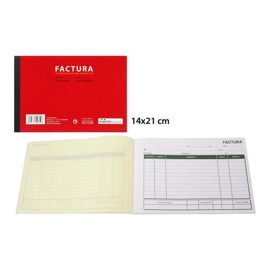 TALONARIO FACTURA 20 COPIAS, MASTERCLASS, 14X21CM.