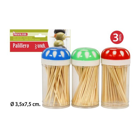 PALILLERO PLASTICO 3UDS X 80 PIEZAS, PRIVILEGE