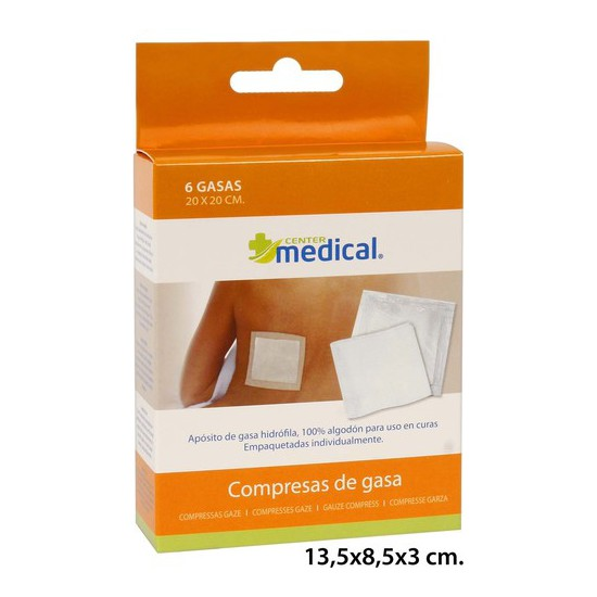 GASA INDIVIDUAL 20X20, MEDICAL CENTER, 6UDS.