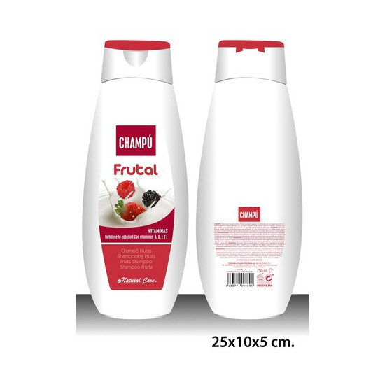 CHAMPÚ, NATURAL CARE, -FRUTAS-, 750ML.
