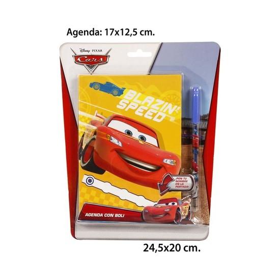 AGENDA CON BOLI, DISNEY, -CARS-