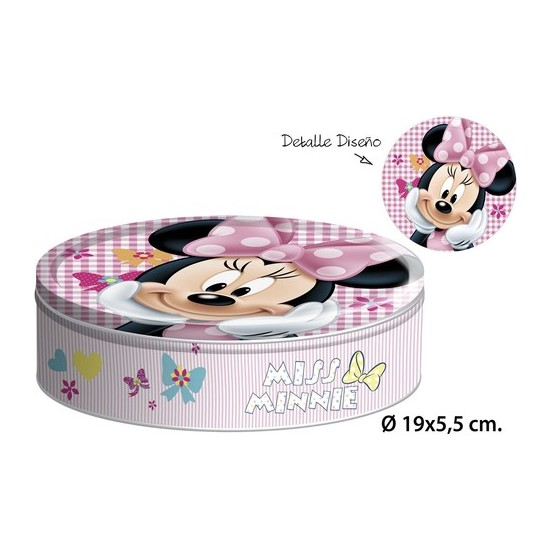 CAJA METAL REDONDA, DISNEY, -MINNIE-