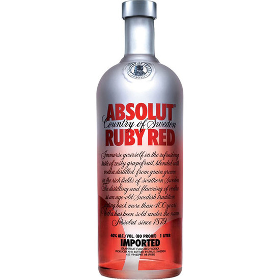 VODKA ABSOLUT RUBY RED POMELO
