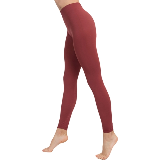 LEGGINGS PUSH UP COSMÉTICO-TEXTIL COLOR MARSALA