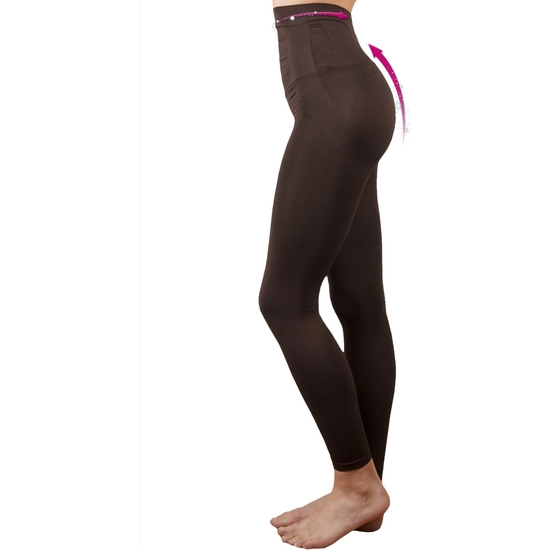 LEGGING PUSH UP COSMÉTICO-TEXTIL EMANA 140 DEN COLOR MARRÓN