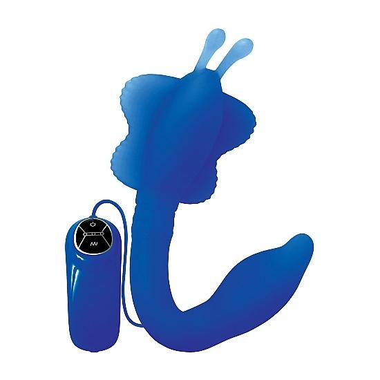 VIBRADOR BUTTERFLY DOBLABLE BLUE