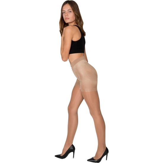 PANTY LICRA 40 DEN REDUCTOR PUSH UP LOTE DE 2 COLOR BEIGE