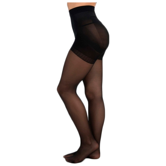 PANTY LICRA 40 DEN REDUCTOR PUSH UP LOTE DE 2 COLOR NEGRO