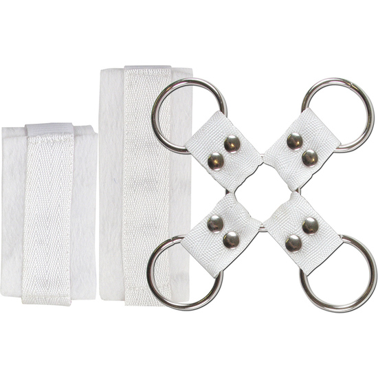 4PLAY LOVERS BONDAGE ATADURAS KIT BLANCO