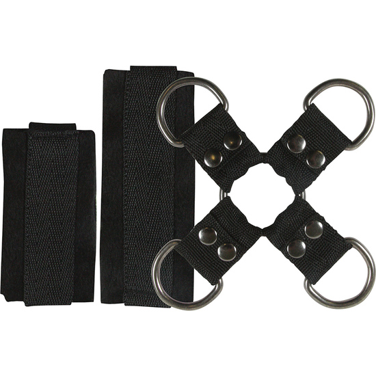 4PLAY LOVERS BONDAGE ATADURAS KIT NEGRO