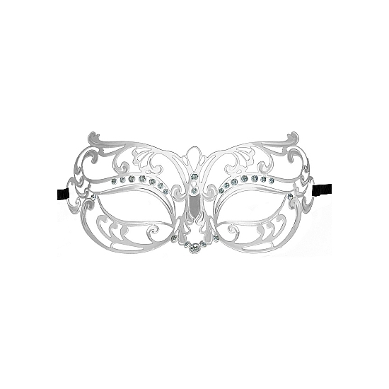 TRIBAL MASQUERADE MASK PLATA