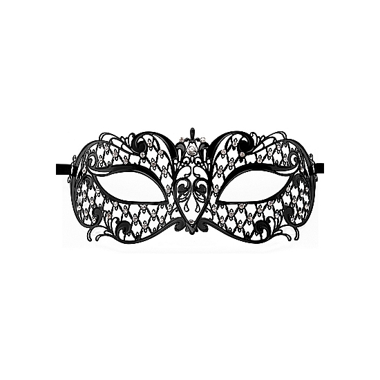 ANGEL MASQUERADE MASK NEGRO