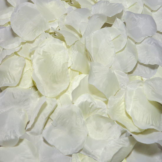 100 PETALOS COLOR BLANCO