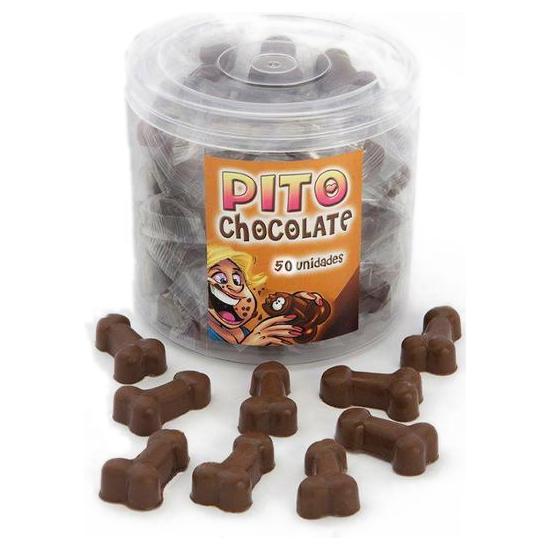 BOTE DE 50 PITOS DE CHOCOLATE MADE IN SPAIN
