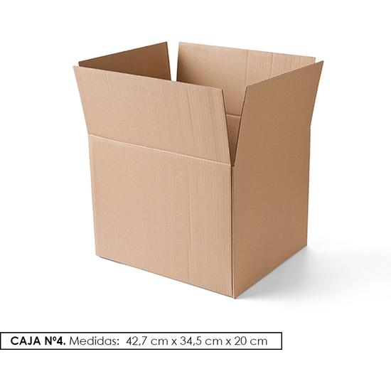 PACK 10 CAJAS DE CARTON Nº 4 (42,7 x 34,5 x 20)