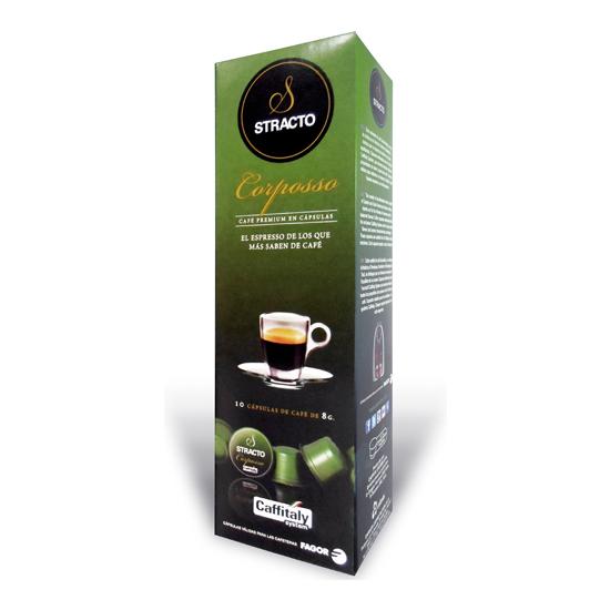 CORPOSSO STRACTO, 10 CÁPSULAS DE CAFÉ