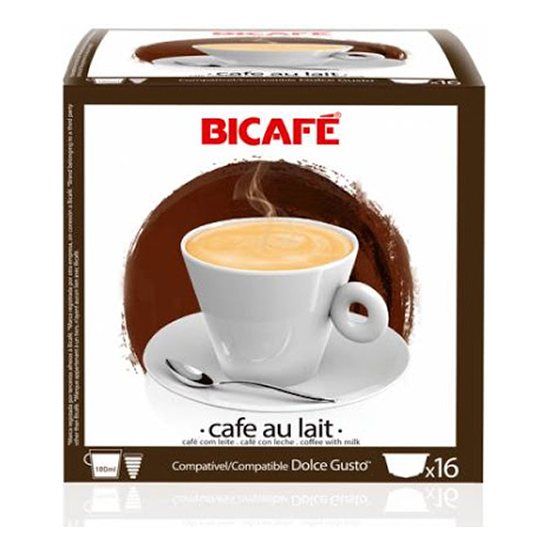 CAFE AU LAIT 16 CÁPSULAS BI CAFÉ