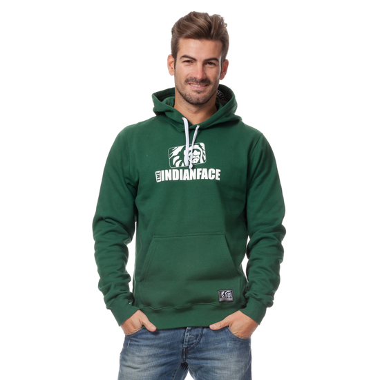 SUDADERA CAPUCHA THE INDIAN FACE VERDE