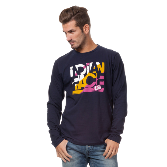 CAMISETA ML SNOW RIDE AZUL MARINO